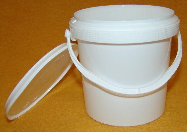 Druckdeckeleimer 1 Liter aus Lebensmittel echten Kunststoff