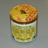 Bienenhonig aus eigener Imkerei, Sommertracht im 500g Glas
