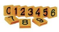 Nummernblock, 1-stell., Nummer 0 bis 9 rot weiße Ziffer