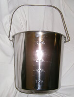 Edelstahleimer 12.3 Liter