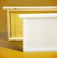 Dadant Blatt Honig-Raum Kunststoffwabe , Rähmchen und Mittelwand aus Kunstoff