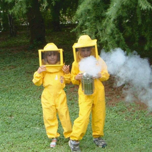 """Imker-Schutzanzug """"COMPATTA KINDER"""", gelb, 4 Taschen, mit viereckigen Drahtschleier, Größe M (7-8 Jahre)"""