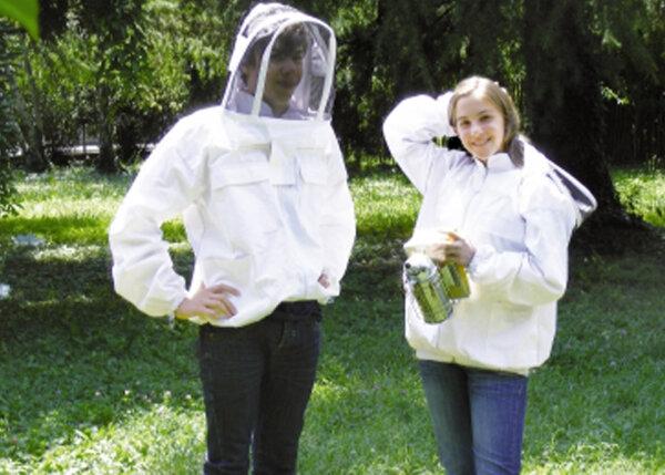 """Imker-Weste """"ASTRONAUTA"""", weiß, 4 Taschen, mit Glasfaser-Schutzmaske, Größe M"""