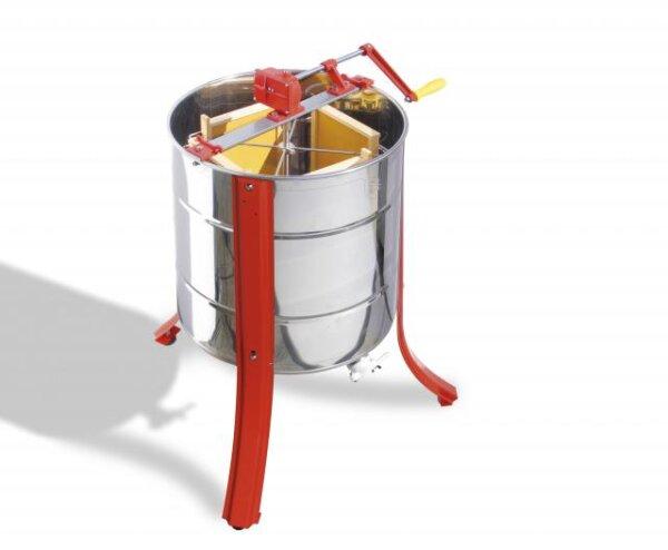 Tangential Honigschleuder für 4 Waben mit Handantreib