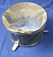 Edelstahl Honig Doppelsieb, aus 3 Teilen; Edelstahlen Grobsieb, Nylon Sackfilter Edelstahlen Kesselring Ø350mm