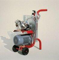 Honigpumpe mit Motor Dreiphasig 380V/750W, Laufrad aus Neopren Ø90mm, mit 2 Edelstahl Schlauchverbindingen Ø50mm
