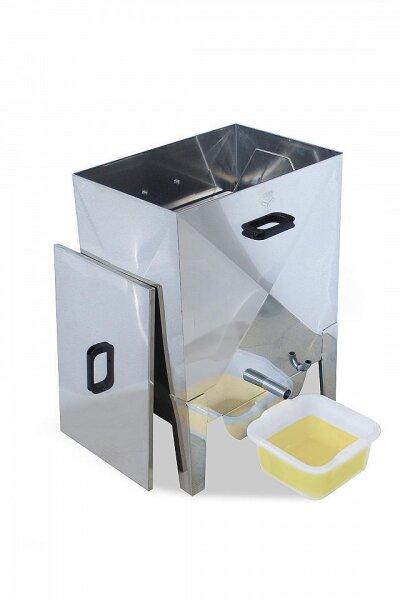 Dampfwachsschmelzer Vapor aus Edelstahl für 15 Brut-Waben Dadant