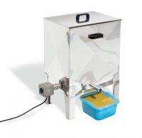 Dampfwachsschmelzer Elektra15 aus Edelstahl, Elektrische Heizung 220V/1500W, für 15 Brut-Waben Dadant