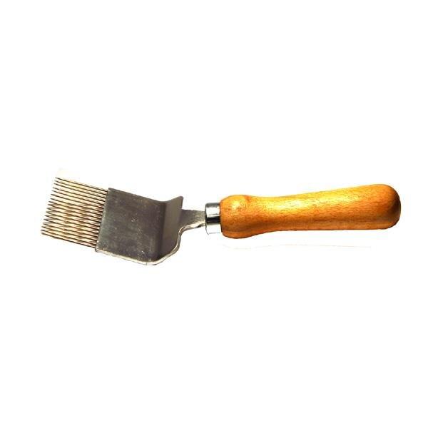 Entdecklungsgabel mit geraden Nadeln und Holzgriff