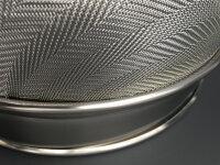 Edelstahl Honig Doppelsieb Durchmesser 240mm, Grobsieb und Feinsieb